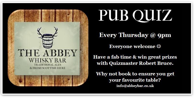 The Abbey Bar Edinburgh Pub Quiz
